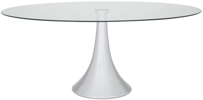 Serene Cadiz Oval Glass Dining Table