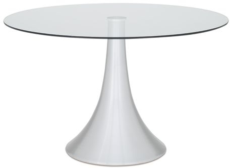 Serene Cadiz Round Glass Dining Table