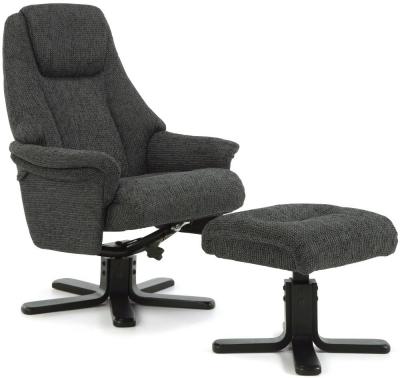 Serene Mysen Graphite Fabric Recliner Chair