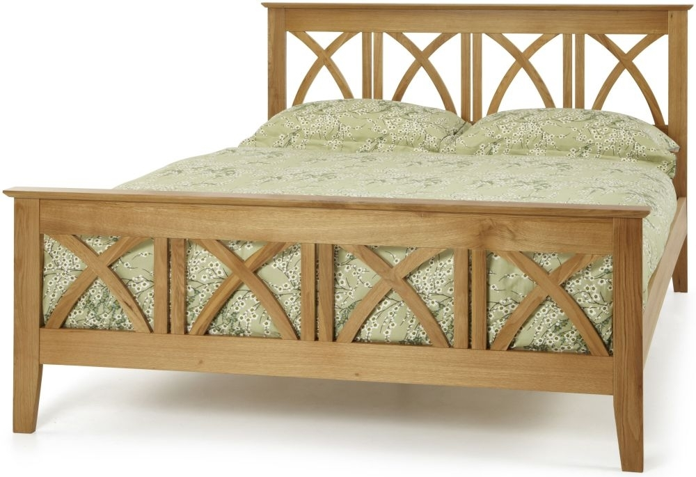 Clearance Serene Maiden Solid Oak Bed 6ft Queen Size - W79