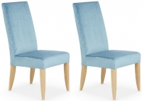 Serene Hendon Cyan Quilted Velvet Dining Chair (Pair)