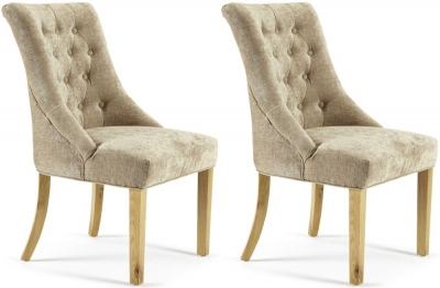 Serene Hampton Mink Fabric Dining Chair (Pair)