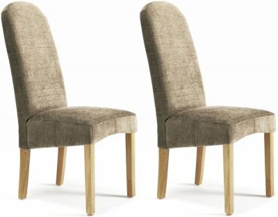 Serene Marlow Bark Fabric Dining Chair (Pair)