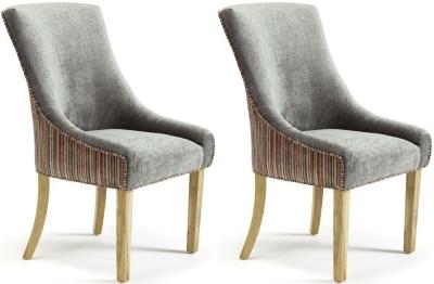 Serene Richmond Orange Steel Fabric Dining Chair (Pair)