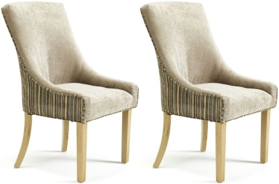 Serene Richmond Sand Mink Fabric Dining Chair (Pair)