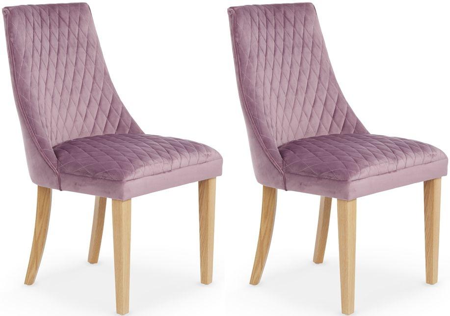 Serene Charlton Lavender Fabric Dining Chair (Pair)