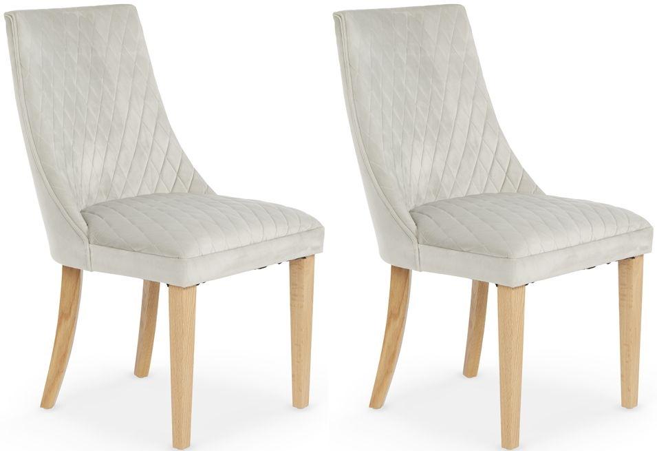 Serene Charlton Silver Fabric Dining Chair (Pair)