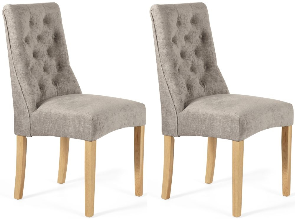 Serene Fulham Mink Fabric Dining Chair (Pair)