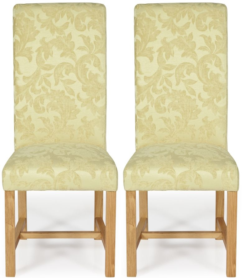 buy serene greenwich oatmeal floral fabric dining chair