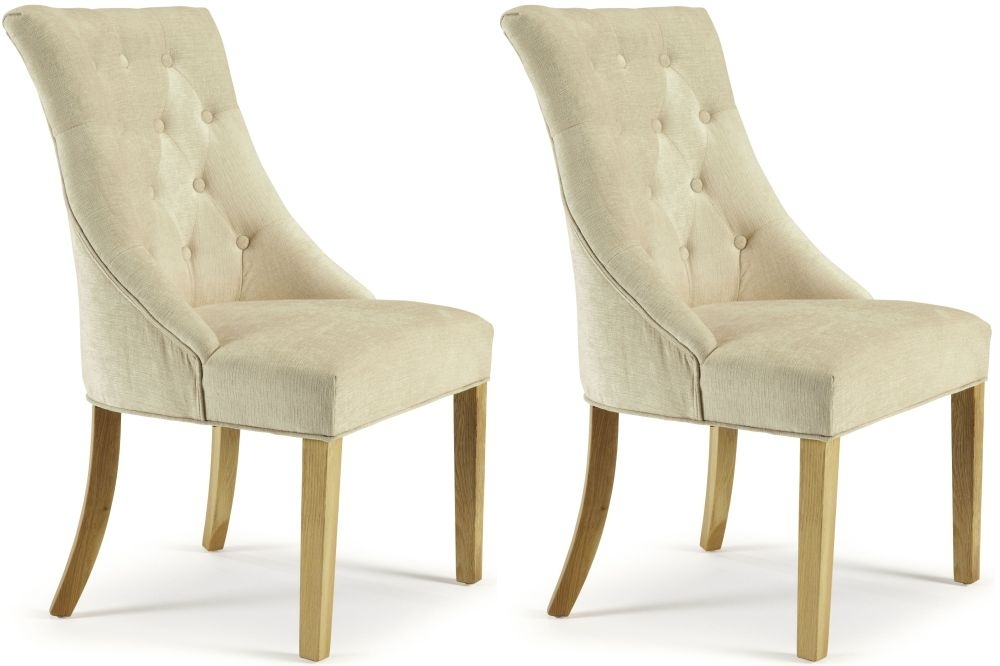 Serene Hampton Pearl Fabric Dining Chair (Pair)