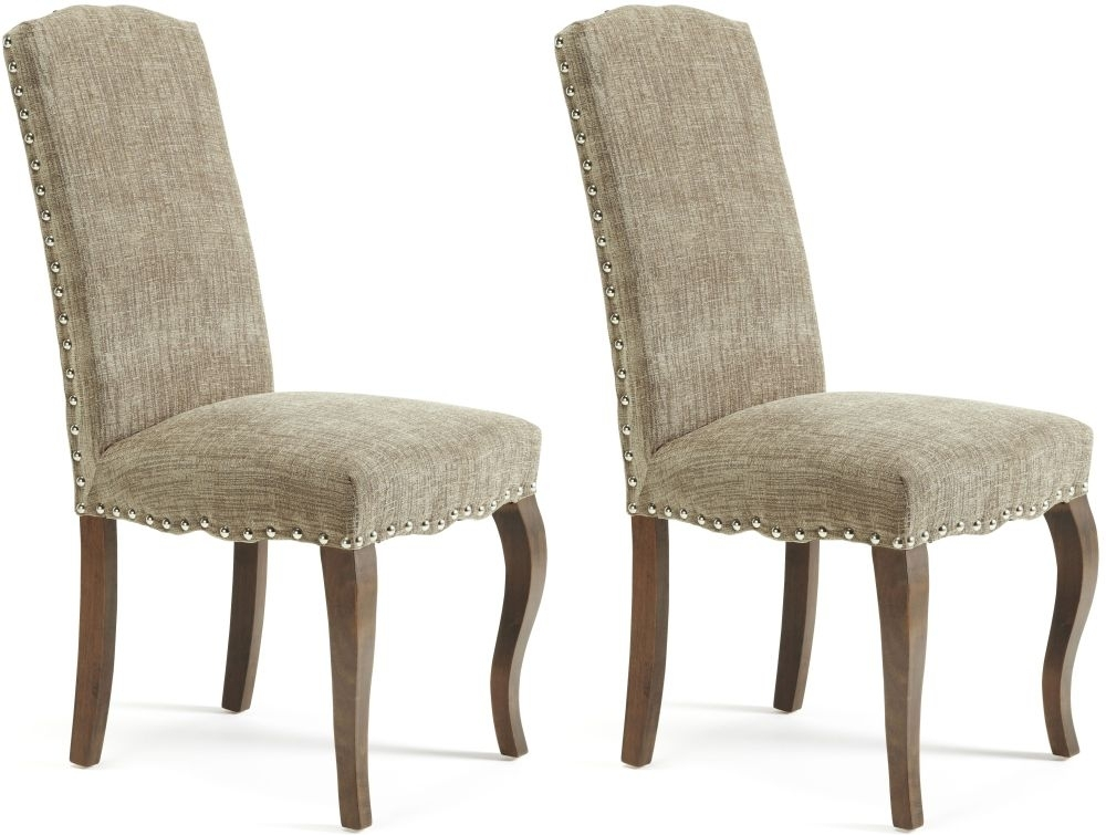 Serene Kensington Bark Fabric Dining Chair with Walnut  : 3 Serene Kensington Bark Fabric Dining Chair with Walnut Legs Pair from choicefurnituresuperstore.co.uk size 1000 x 755 jpeg 230kB