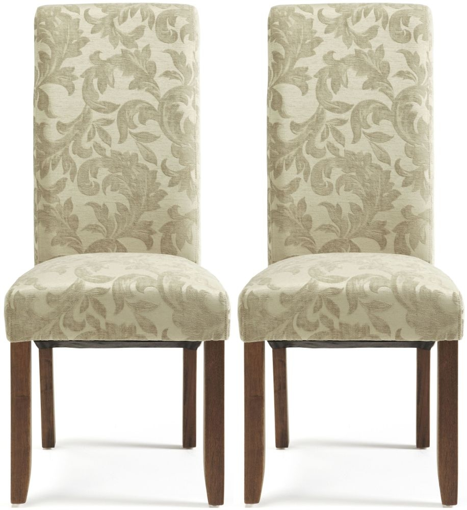 Buy Serene Kingston Sage Floral Fabric Dining Chair with Walnut – Floral Dining Chairs