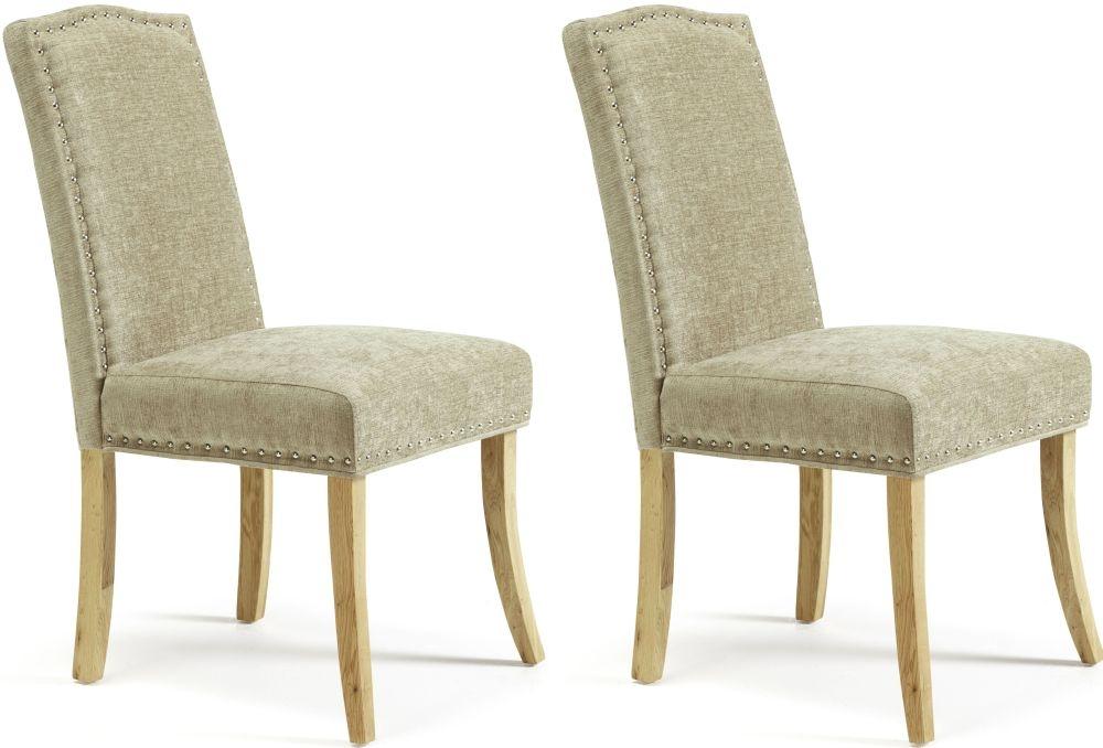 Serene Knightsbridge Fudge Fabric Dining Chair (Pair)