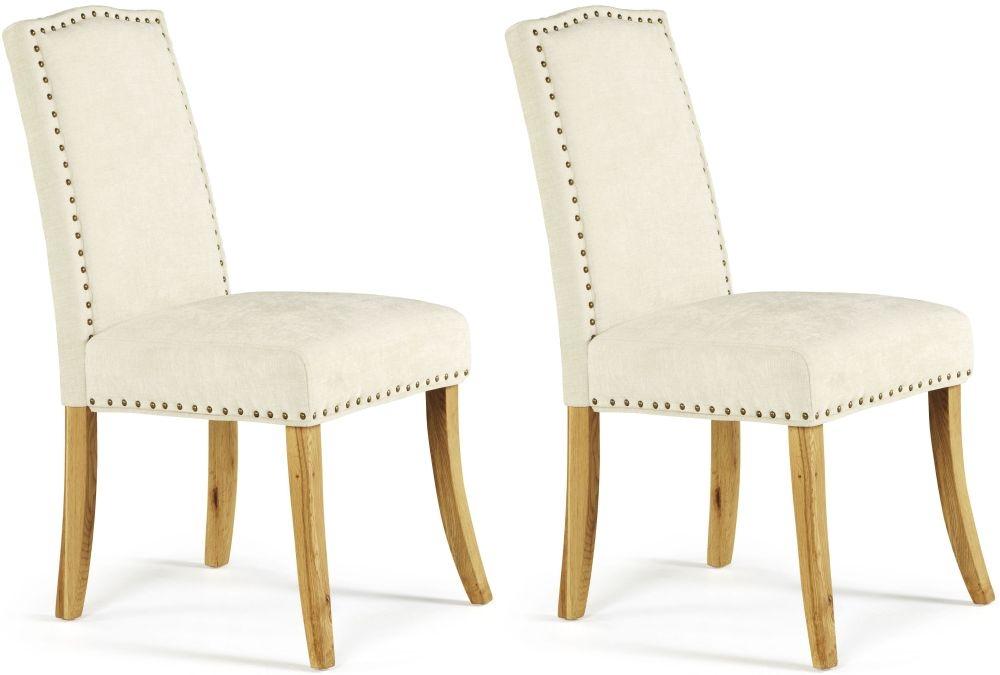 Serene Knightsbridge Pearl Fabric Dining Chair (Pair)