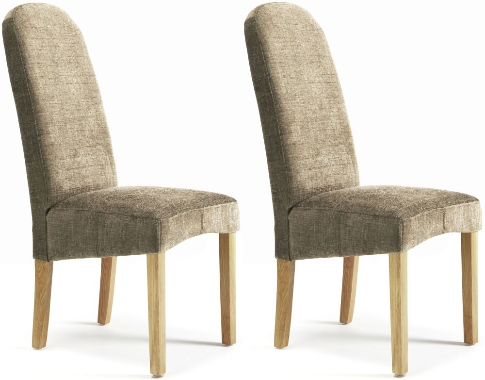 Serene Marlow Bark Fabric Dining Chair (Pair)