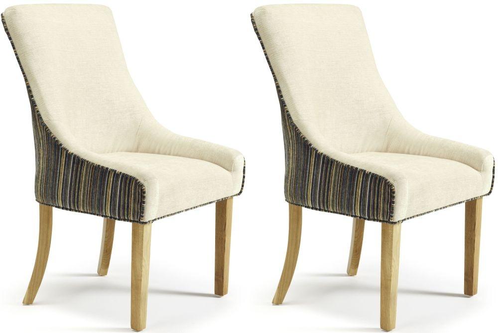 Serene Richmond Aubergine Pearl Fabric Dining Chair (Pair)