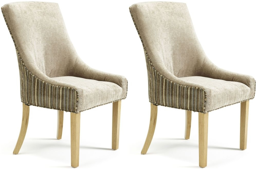 serene richmond sand mink fabric dining chair pair