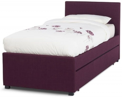 Serene Lily Plum 3ft Single Upholstered Fabric Day Bed