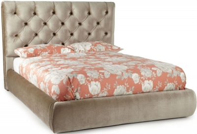 Serene Alexandra Gold Fabric 4ft 6in Bed