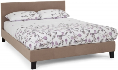 Serene Evelyn Latte Fabric Bed