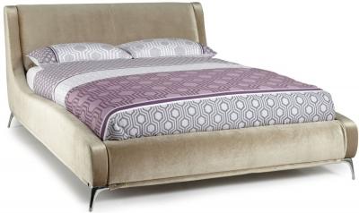 Serene Faye Gold Fabric Bed