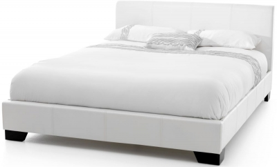 Serene Parma White Faux Leather 5ft Bed