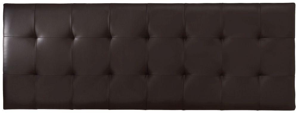Serene Romana Brown Faux Leather 6ft Headboard