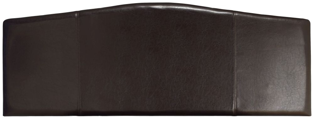 Serene Rosa Brown Faux Leather 6ft Headboard