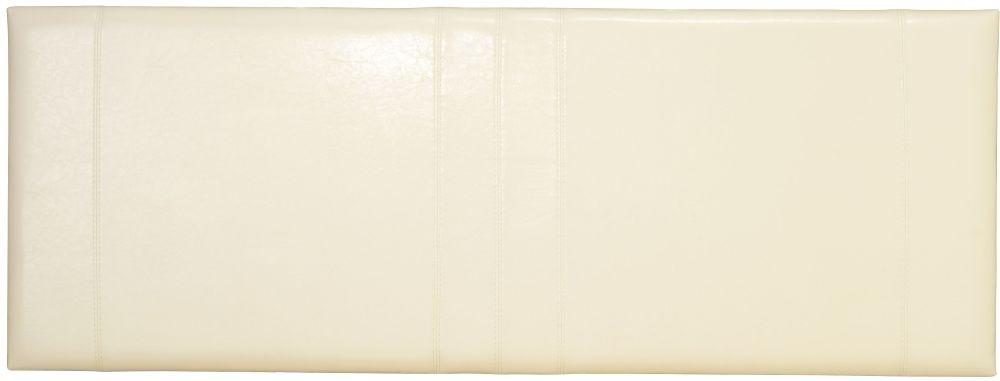 Serene Carmela Cream Faux Leather 4ft Small Double Headboard