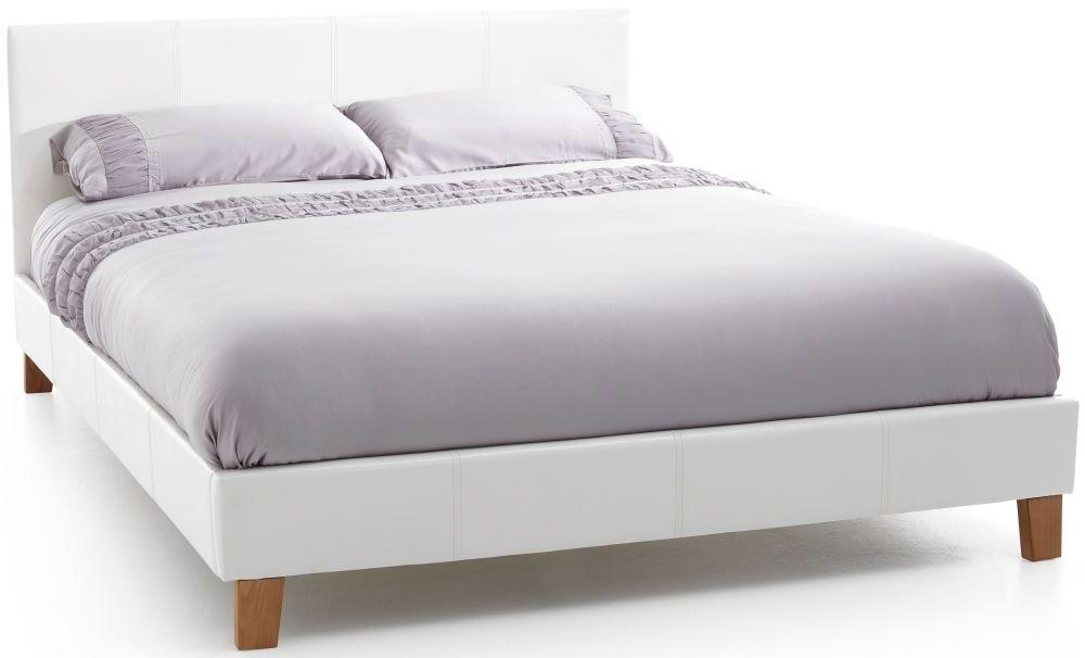 Serene Tivoli White Faux Leather Bed