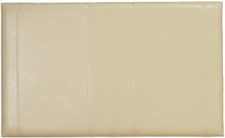 Serene Carmela Cream Faux Leather Headboard - 3ft Single