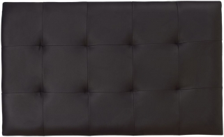 Serene Romana Black Faux Leather Headboard - 3ft Single