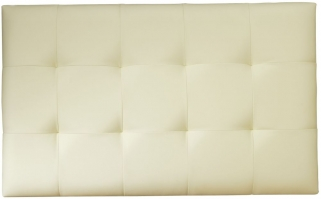 Serene Romana Cream Faux Leather Headboard - 3ft Single
