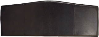 Serene Rosa Black Faux Leather Headboard