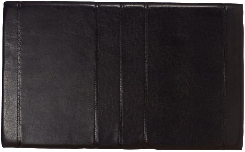 Serene Carmela Black Faux Leather Headboard - 3ft Single