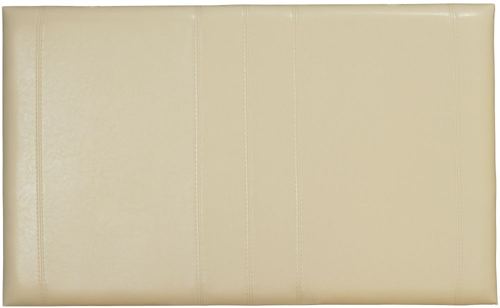Serene Carmela Cream Faux Leather Headboard - 3ft Single