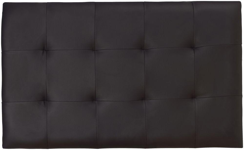 Serene Romana Black Faux Leather Headboard - 3ft Single