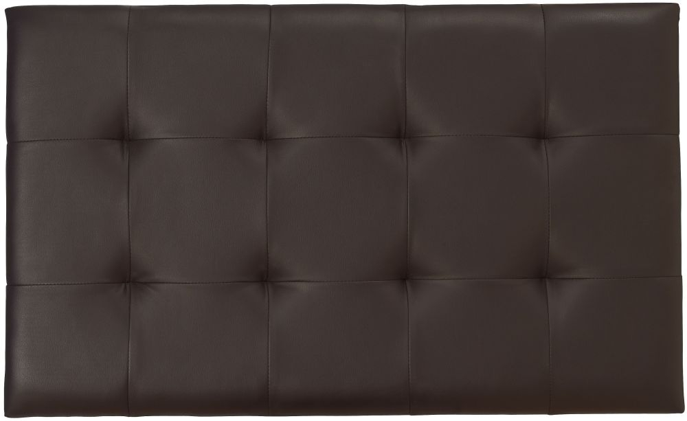 Serene Romana Brown Faux Leather Headboard - 3ft Single
