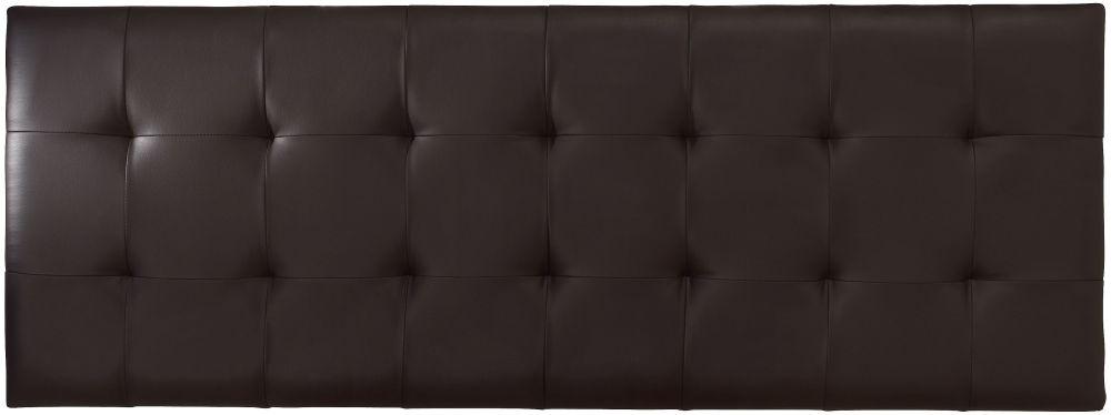 Serene Romana Brown Faux Leather Headboard