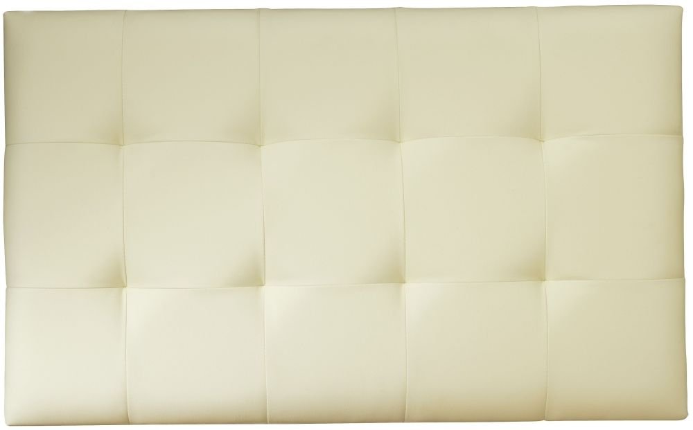 Serene Romana Cream Faux Leather Headboard - 3ft Single