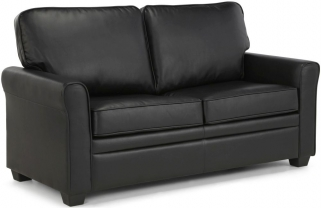 Serene Naples Black Faux Leather Sofa Bed