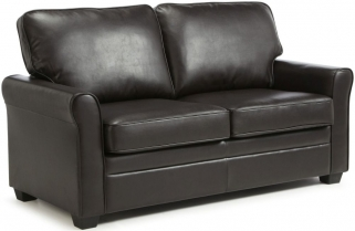 Serene Naples Brown Faux Leather Sofa Bed