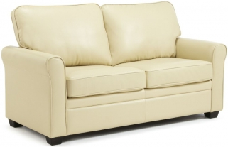 Serene Naples Cream Faux Leather Sofa Bed