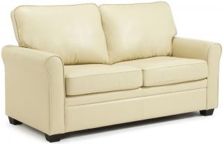 Serene Naples Cream Faux Leather Sofa Bed