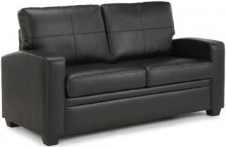 Serene Turin Black Faux Leather Sofa Bed