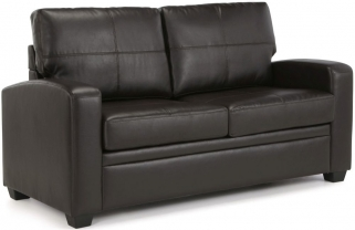 Serene Turin Brown Faux Leather Sofa Bed