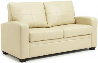 Serene Turin Cream Faux Leather Sofa Bed