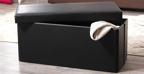 Serene Faux Leather Storage Cabinets