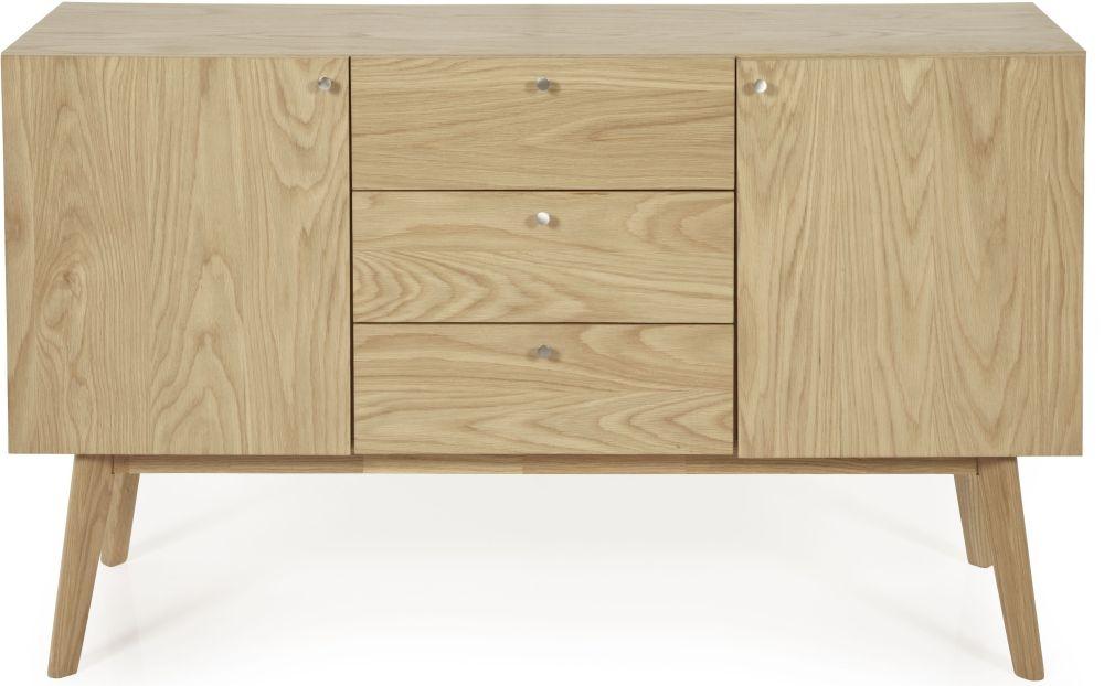 Serene Finchley Oak 2 Door 3 Drawer Wide Sideboard