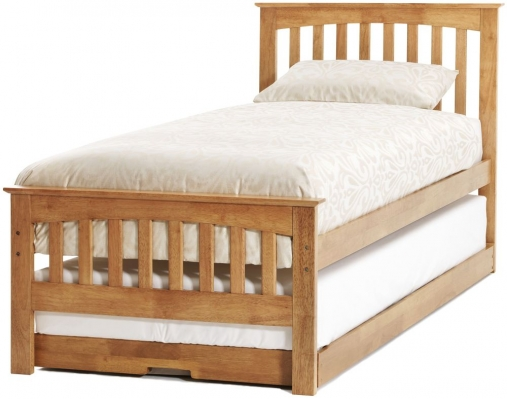 Serene Hevea Wood Amelia Honey Oak Guest Bed